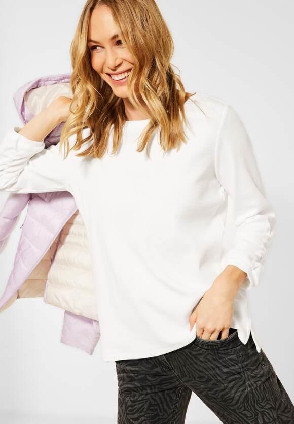 Cecil | Shirt mit Waffel-Struktur | Farbe: pure off white 10125, 315946