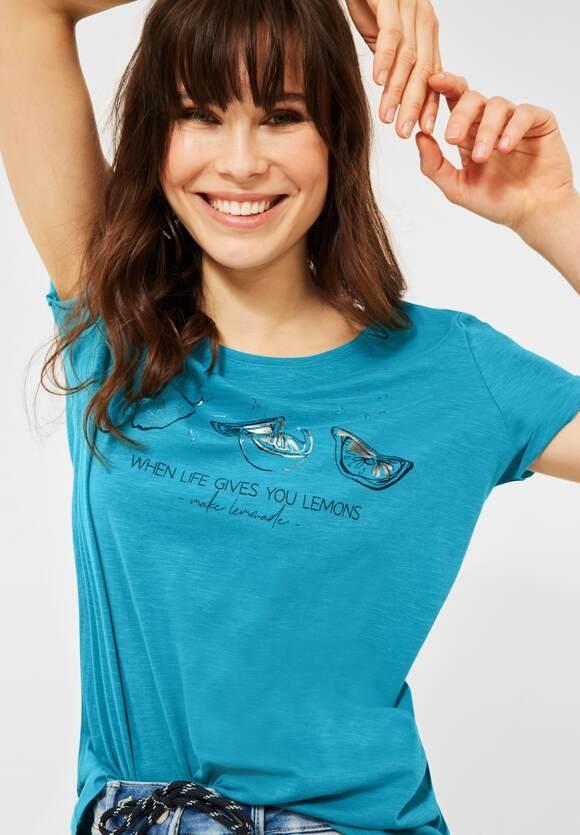 Cecil   T-Shirt mit Motiv   Farbe: cool lagoon blue 31813, 316351