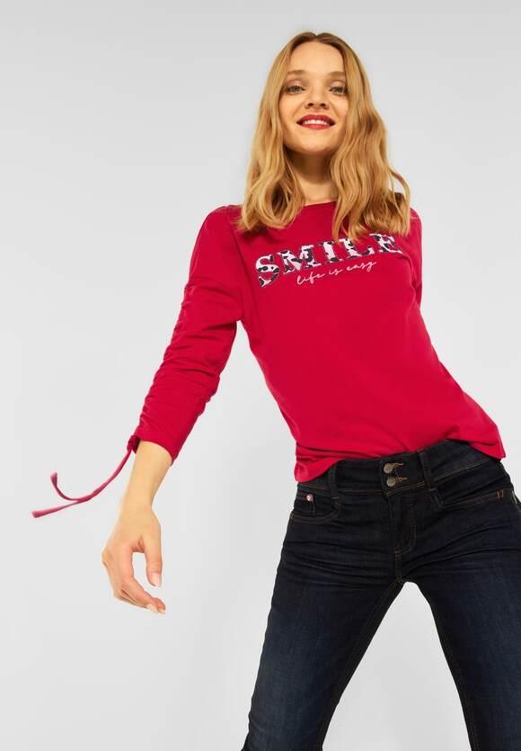 Street One   Shirt mit Kordelzügen   Farbe: full red 33319, 316910
