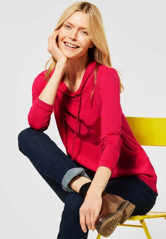 Cecil | Bluse mit Cupro-Mix | Farbe: hibiscus red 12737, 342373