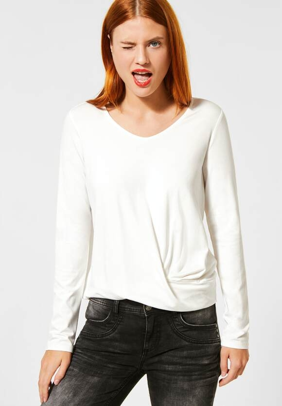 Street One | Shirt mit Knotendetail | Farbe: off white 10108, 315493