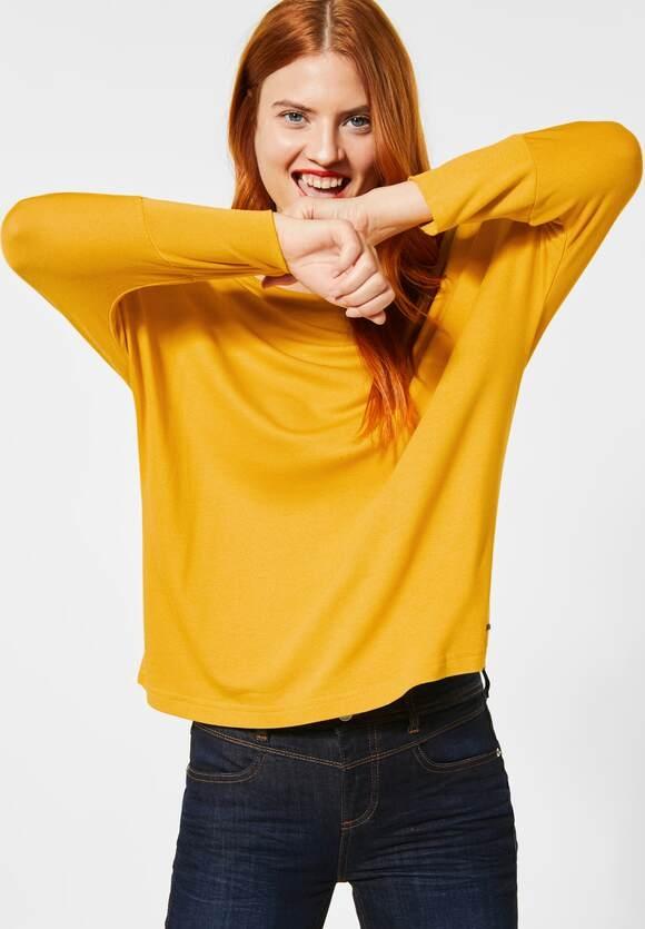 Street One | Unifarbenes Oversize-Shirt | Farbe: amber yellow 12455, 315508