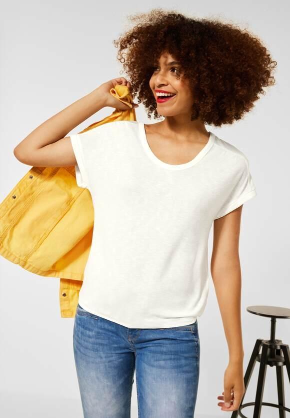 Street One | Shirt mit gerafften Schultern | Farbe: off white 10108, 316761