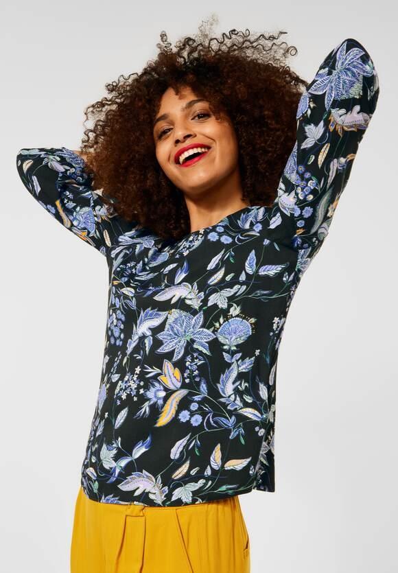 Street One   Shirt im Materialmix   Farbe: black 30001, 316780