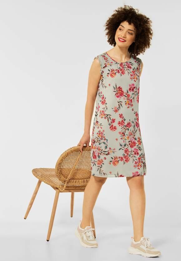 Street One   Kleid mit Smok Details   Farbe: light shadow green 33056, 142950