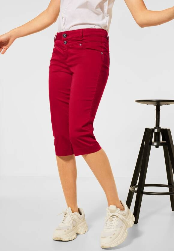 """Street One   Casual Fit Capri Hose """"Yulius""""   Farbe: gentle red 13052, 374227"""