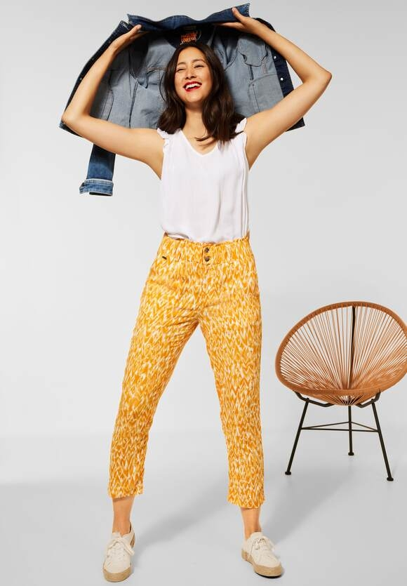 Street One | Loose Fit Hose in Paperbag | Farbe: sulphur yellow 33165, 374304