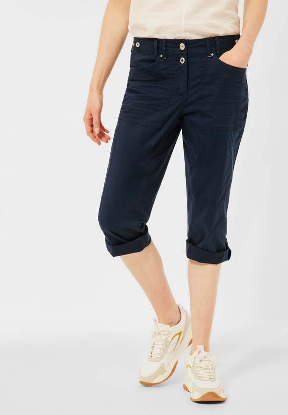 Cecil | Casual Fit Hose in Inch 22 | Farbe: deep blue 10128, 374081