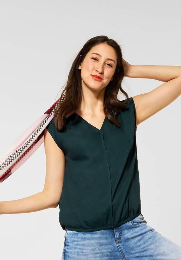 Street One   Bluse mit V-Ausschnitt   Farbe: spruce green 13102, 342637