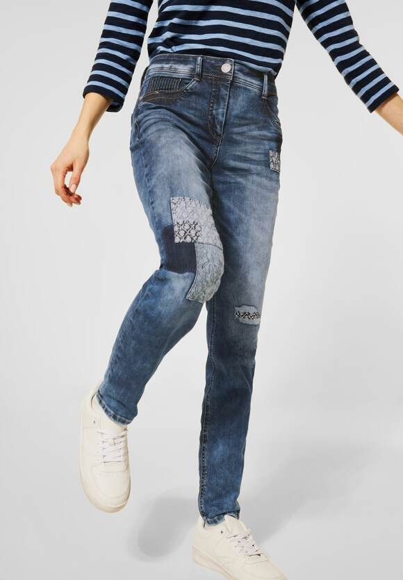 "Cecil | Denim ""Toronto"" im Patch-Look 