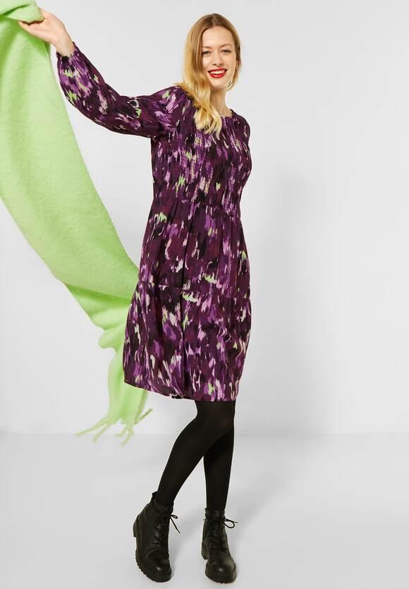 Street One   Volant-Kleid mit Smok-Deko   Farbe: burnt sienna red 32699, 142809